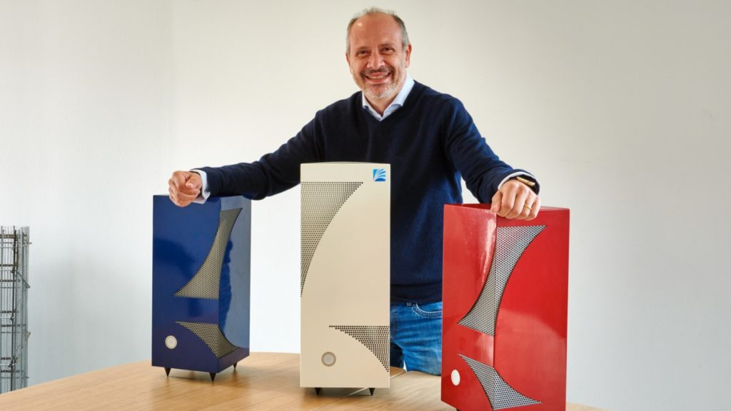 Firas Esreb with Ikibox air purifiers