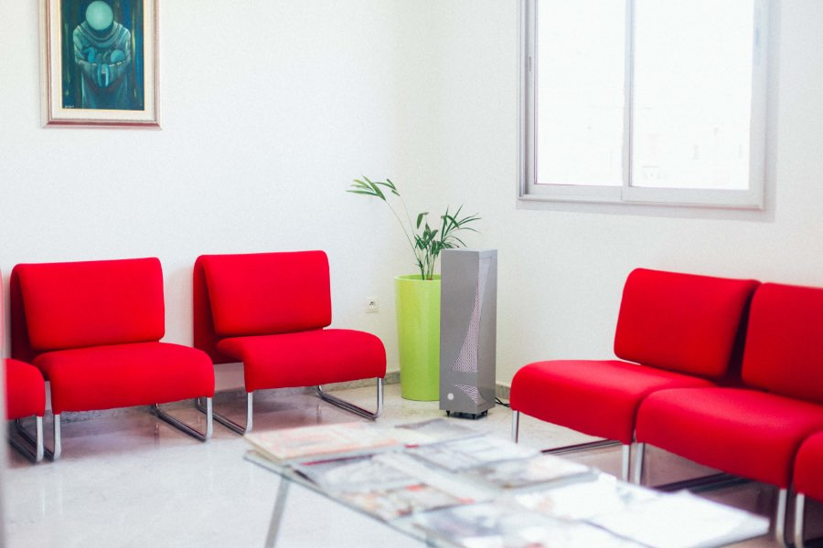 Air purifier for professional waiting room tertiary sector